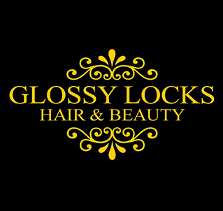 Glossy Locks logo marketing